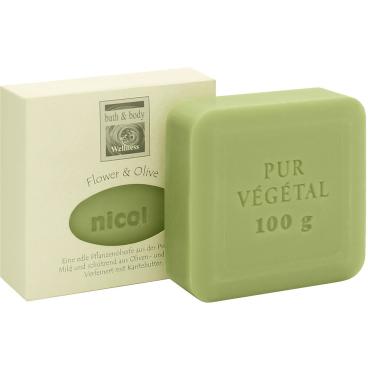 Nicol Pflanzenölseife Flower & Olive 100 g - Stück