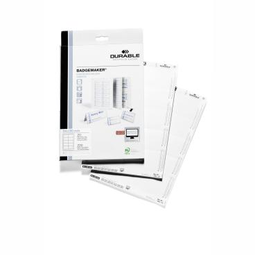 DURABLE BADGEMAKER® Einsteckschilder 1 Packung = 20 Stück, Maße: 54 x 90 mm, DIN A4