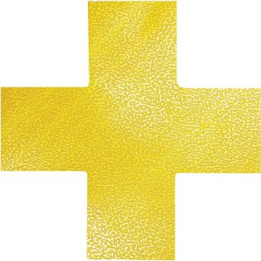 """DURABLE Stellplatzmarkierung """"Kreuz"""" 1 Packung = 10 Stück, Farbe: gelb"""