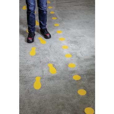 """DURABLE Stellplatzmarkierung """"Punkt"""" 1 Packung = 10 Stück, Farbe: gelb"""