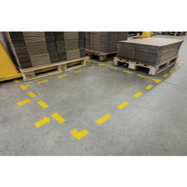 """DURABLE Stellplatzmarkierung """"Pfeil"""" 1 Packung = 10 Stück, Farbe: gelb"""