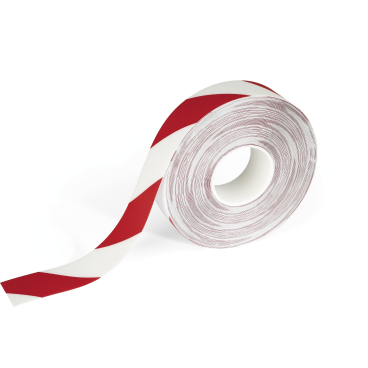 DURABLE STRONG 2 COLOUR Bodenmarkierungsband 30 m Farbe: rot/weiß