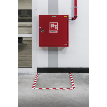 DURABLE STRONG 2 COLOUR Bodenmarkierungsband, 30 Meter rot/weiß