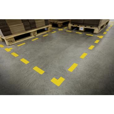 """DURABLE Stellplatzmarkierung """"T"""" 1 Packung = 10 Stück, Farbe: gelb"""