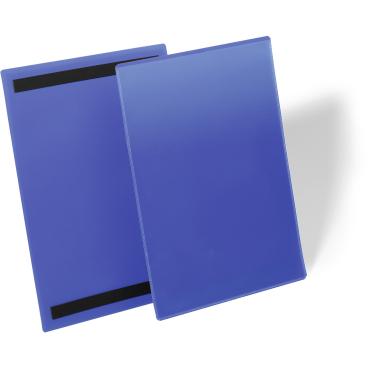 DURABLE Magnetische Kennzeichnungstasche 1 Packung = 50 Stück, Innenformat: A4 hoch