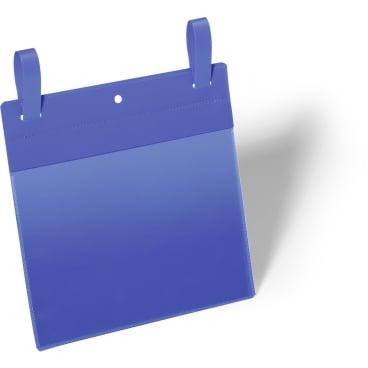 DURABLE Gitterboxtasche mit Lasche 1 Packung = 50 Stück, Innenformat: A5 quer, Farbe: blau