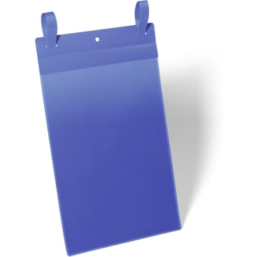 DURABLE Gitterboxtasche mit Lasche 1 Packung = 50 Stück, Innenformat: A4 hoch, Farbe: blau