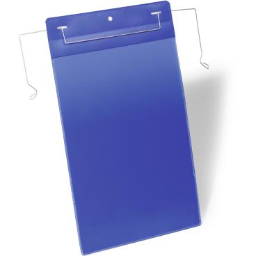 DURABLE Drahtbügeltasche 1 Packung = 50 Stück, Innenformat: A4 hoch, Farbe: blau