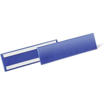 DURABLE Selbstklebende Etikettentasche 1 Packung = 50 Stück, Innenformat: 1/3 A4 quer