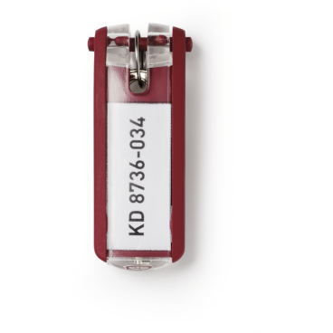 DURABLE KEY CLIP Schlüsselanhänger 1 Beutel = 6 Stück, Farbe: rot