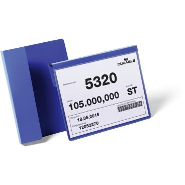 DURABLE Kennzeichnungstasche mit Falz 1 Packung = 50 Stück, A5 quer