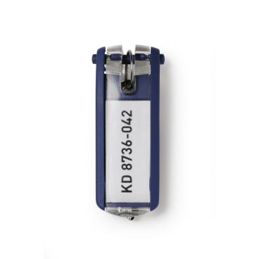DURABLE KEY CLIP Schlüsselanhänger 1 Beutel = 6 Stück, Farbe: blau