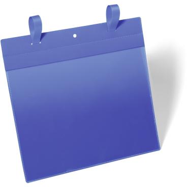 DURABLE Gitterboxtasche mit Lasche 1 Packung = 50 Stück, Innenformat: A4 quer, Farbe: blau