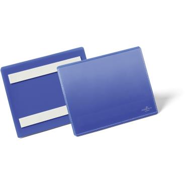 DURABLE Selbstklebende Kennzeichnungstasche 1 Packung = 50 Stück, Innenformat: A6 quer