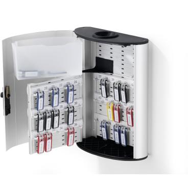 DURABLE KEY BOX PLUS Schlüsselkasten Für 54 Schlüssel, Farbe: metallic silber