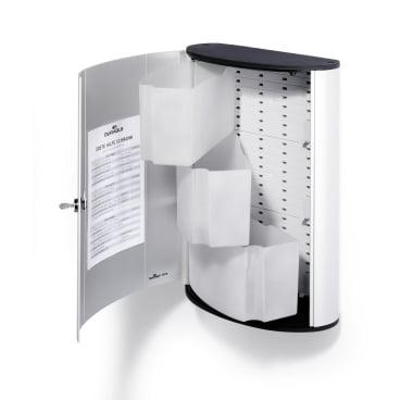 DURABLE FIRST AID BOX L Verbandkasten Maße: 302 x 400 x 118 mm, Farbe: metallic silber