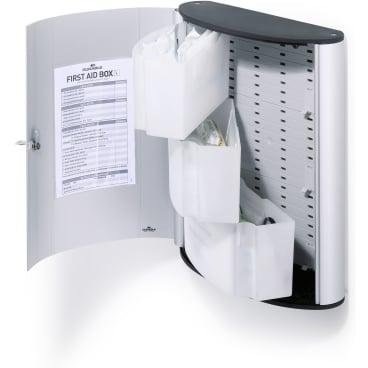 DURABLE FIRST AID SET L Verbandskasten Maße: 302 x 400 x 118 mm, metallic silber