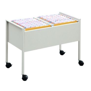 DURABLE ECONOMY Hängemappenwagen 100 DUO Farbe: metallic silber, Außenmaße: 592 x 760 x 425 mm