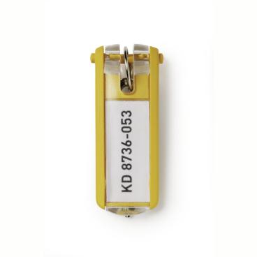 DURABLE KEY CLIP Schlüsselanhänger 1 Beutel = 6 Stück, Farbe: gelb