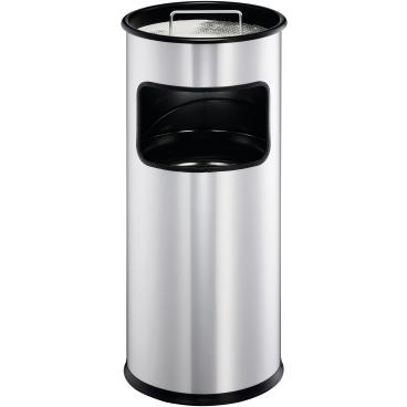 DURABLE Papierkorb Metall mit Ascher, 17 Liter Farbe: schwarz