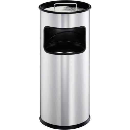 DURABLE Metall Papierkorb mit Ascher, 17 Liter