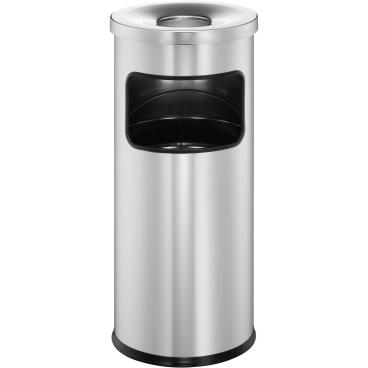 DURABLE Papierkorb mit Ascher Safe, 17 Liter Farbe: metallic silber