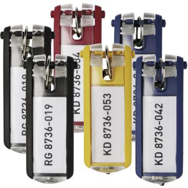 DURABLE KEY CLIP Schlüsselanhänger 1 Beutel = 6 Stück, Farbe: farbig sortiert
