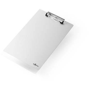 DURABLE A4 Aluminium Klemmbrett Maße: 344 x 227 x 1 mm, Farbe: metallic silber