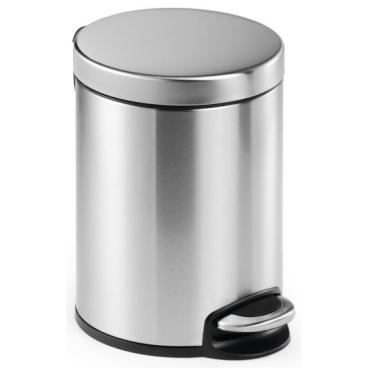 DURABLE Treteimer Edelstahl, rund Volumen: 5 l, Farbe: metallic silber