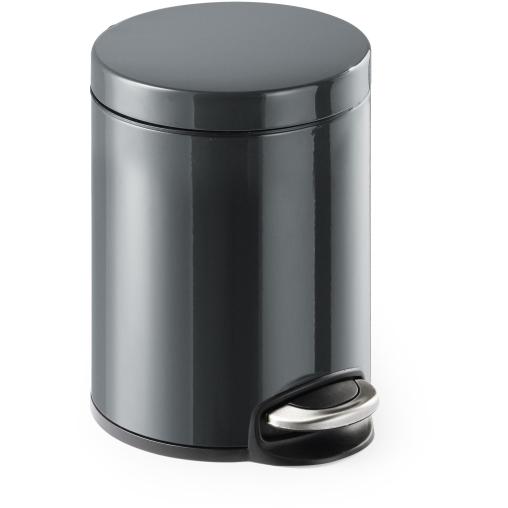 DURABLE Treteimer Metall, rund, anthrazit