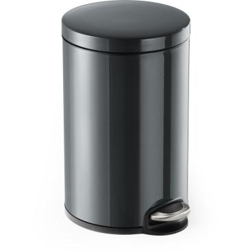 DURABLE Treteimer Metall, rund Volumen: 12 l, Farbe: anthrazit