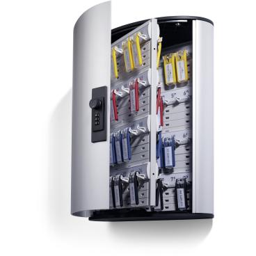 DURABLE KEY BOX CODE Schlüsselkasten Für 72 Schlüssel, Maße: 302 x 400 x 118 mm