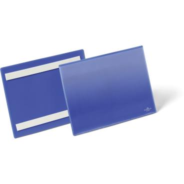 DURABLE Selbstklebende Kennzeichnungstasche 1 Packung = 50 Stück, Innenformat: A5 quer