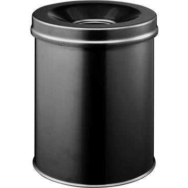 DURABLE Papierkorb Safe,  15 Liter Farbe: schwarz