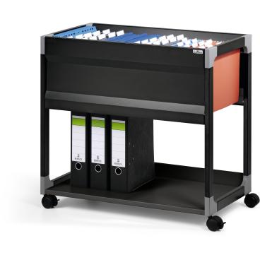 DURABLE 90 A4 System File Trolley Hängemappenwagen Farbe: schwarz