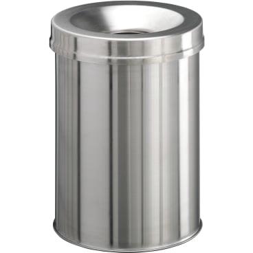 DURABLE Papierkorb Edelstahl Safe, 15 Liter Farbe: metallic silber