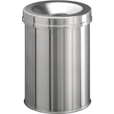 DURABLE Edelstahl Safe Papierkorb, 15 Liter, rund
