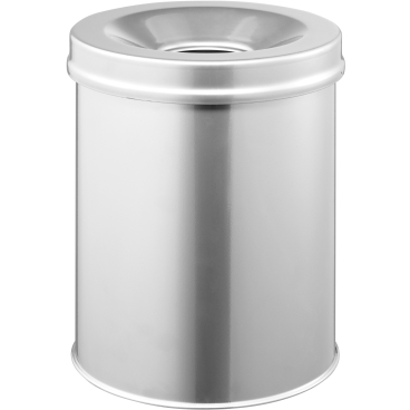 DURABLE Papierkorb Safe,  15 Liter Farbe: metallic silber