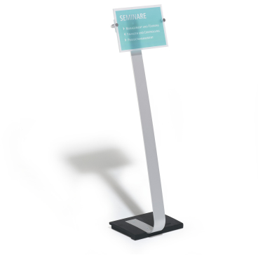 DURABLE CRYSTAL SIGN Stand A4 Bodenständer Farbe: metallic silber