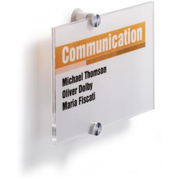 DURABLE CRYSTAL SIGN Türschild Maße: 210 x 148 mm, Farbe: transparent