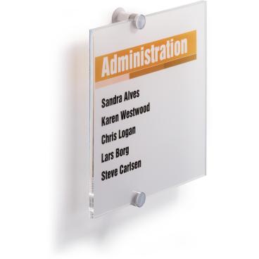DURABLE CRYSTAL SIGN Türschild, transparent Maße: 210 x 210 mm