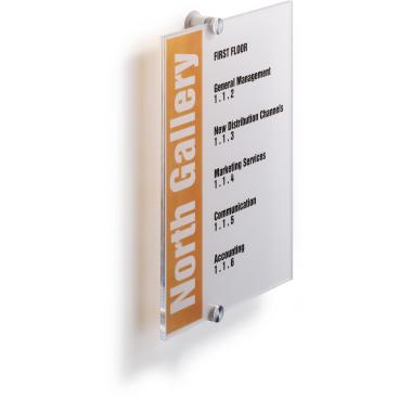 DURABLE CRYSTAL SIGN Türschild Maße: 210 x 297 mm, Farbe: transparent