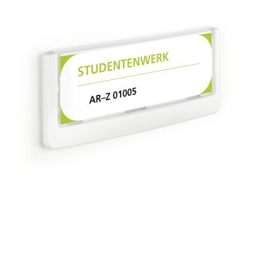DURABLE CLICK SIGN Türschild, 149 x 52,5 mm Farbe: weiß