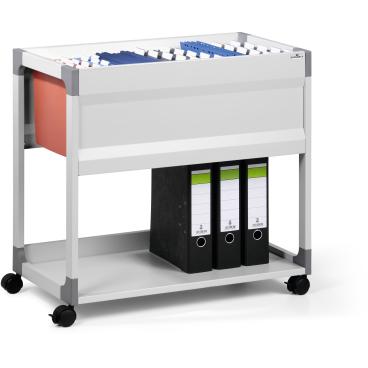 DURABLE 90 A4 System File Trolley Hängemappenwagen Farbe: grau