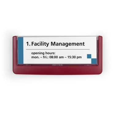 DURABLE CLICK SIGN Türschild, 149 x 52,5 mm Farbe: rot