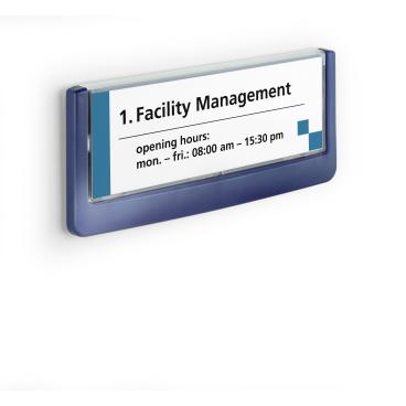 DURABLE CLICK SIGN Türschild, 149 x 52,5 mm Farbe: blau