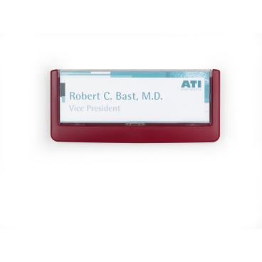 DURABLE CLICK SIGN Türschild, 149 x 52,5 mm Farbe: rot