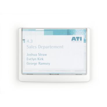 DURABLE CLICK SIGN Türschild, 149 x 105,5 mm Farbe: weiß