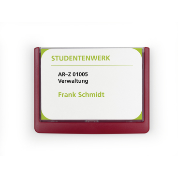 DURABLE CLICK SIGN Türschild, 149 x 105,5 mm Farbe: rot