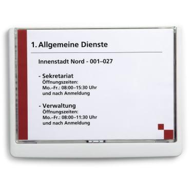 DURABLE CLICK SIGN A5 Türschild, 210 x 148,5 mm Farbe: weiß